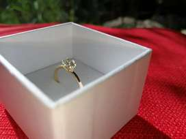 'Dear Rae' Gold Diamond Engagement Ring and Wedding Band
