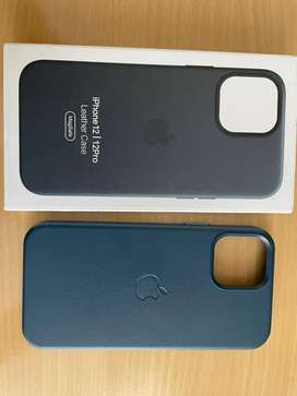 Iphone 12 blue leather cover