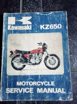 Kawasaki KZ650 Motorcycle service manual