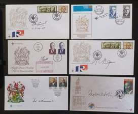 8 x Original signed RSA Presidents FDC's plus Proof coins