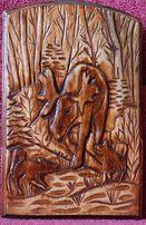 """Картины из дерева ручной работы на тему """"Рыбалка"""" и """"Охота"""""""