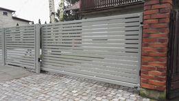 Ogrodzenia od Producenta brama przesuwna wzór wypełnienie 60x20