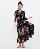 Платье женское длинное ZARA