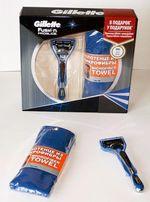 "Gillette Подарочный набор: станок ""Fusion ProGlide"" + полотенце."