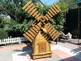Деревянная мельница на заказ 1700