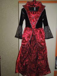 Платье детское карнавальное фирмы George розы, верх бархат.