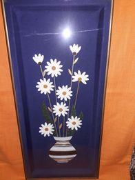 Панно декоративное из соломки ,,Цветы полевые,,