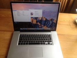 "Apple MacBook Pro 17"" A1297; i7 2,66GHz; 8GB, SSD240GB; 2xgraf"