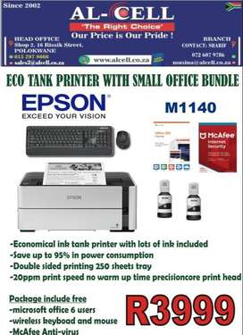 EPSON ECO TANK M1140 PRINTER WITH SMALL OFFICE BUNDLE