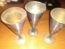 Бокалы серебро 90 Германия 6 штук вес одного 250 грам