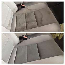 Car interior disinfecting deep clean and surface detail