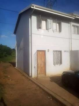 Flat for sale with big yard