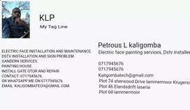 Electric face installation and maintenance painting Gardening