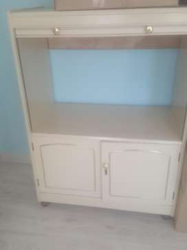 Tv stand for sale with cupboard