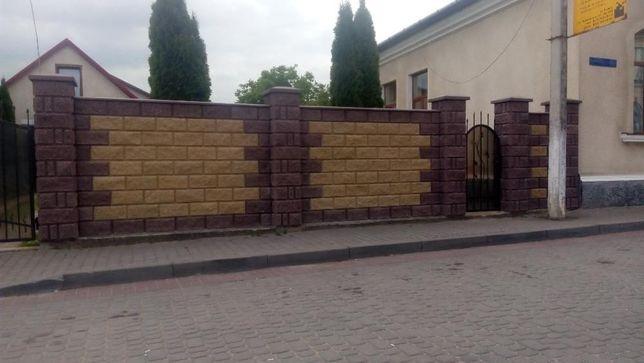 Блок заборный, блок колотый, блок декоративный, рваный камень, скала, Житомир - изображение 8