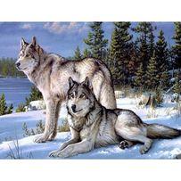 Картина алмазною вишивкою «Вовча вірність»