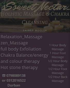 MASSAGE , CHAKRA & COLOUR THERAPY