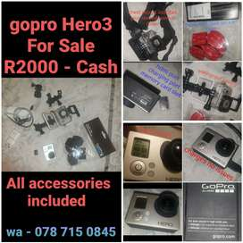 GoPro Hero3 Silver Edition For Sale
