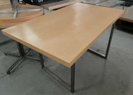 Square Training Tables with Stainless Steel Legs