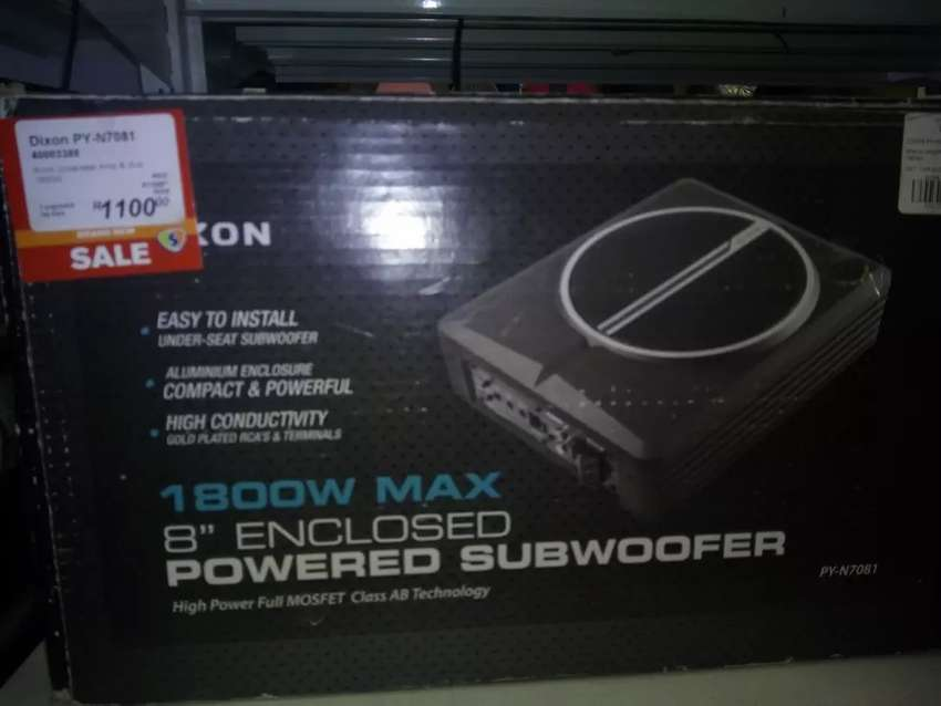 Powered subwoofer 1800w 8inch 0