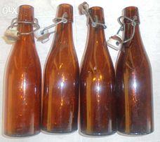 butelka zamykana na kapsel z okresu PRL