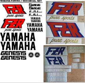 1988 Yamaha FZR 1000 Pure Sports decals sticker kits