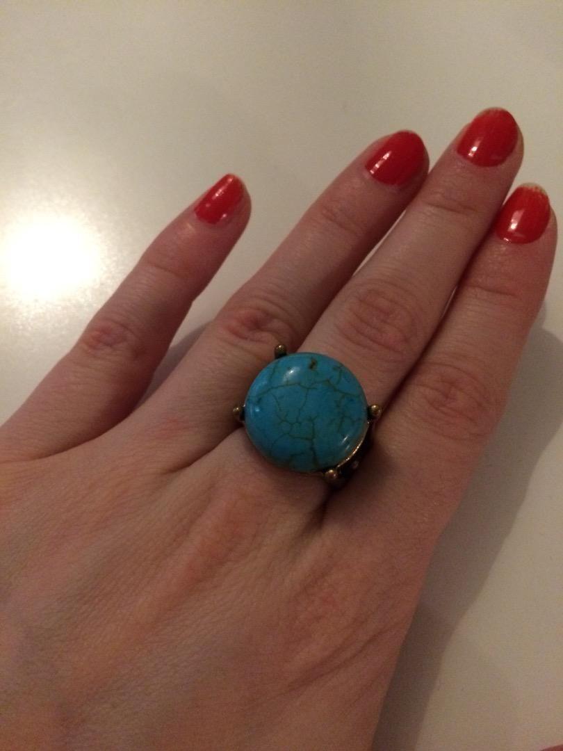 Modry prsten s kamenem S 0
