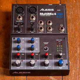MultiMix 4 USB FX 4-Channel Mixer with Effects  USB Audio Interface