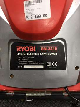 Ryobi electric lawnmowers for sale