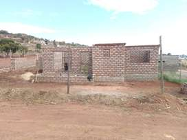 Unfinished new house in pretoria church side at rampao new stands