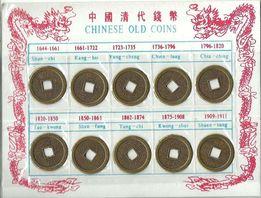 Monety chińskie średnie, monety na szczęście - KOMPLET 10 monet