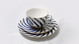 Porcelanowe filiżanki i talerzyki deserowe. Imperial Porcelain 1744