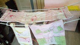 комплект розовый на детскую кроватку