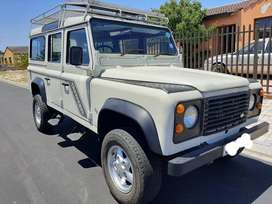 Has a V8 engine with solar panel and 4x4
