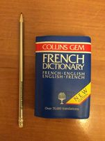 English French French English mini Dictionary Słownik francusko ang