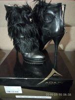 Ботинки кожаные с мехом ламы ADAMI