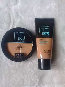 Maybelline fit me foundation and powder toffee shade 330