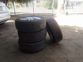I'm salling my 4 tyres wth rims for audi good condition 205/55/16