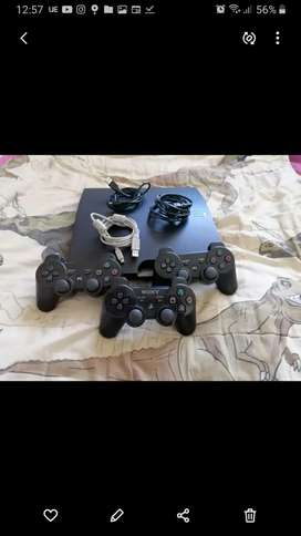 Playstation 3 console with accessories