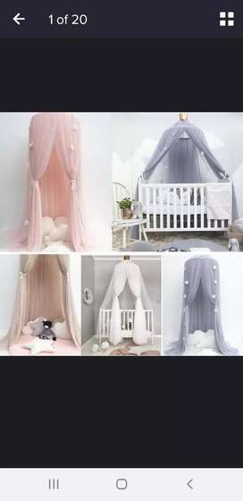 Pink canopy/mosquito net