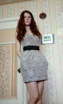 Выпускное платье -футляр c кармашками H&M