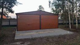 6x5 Garaż blaszany, BRAMY ZŁOTY DAB, blaszak, garaże, hala, wiata