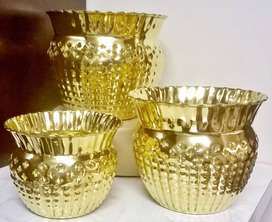 Brand new Brass Art 3pc Pot Planter Sets - Orders welcome