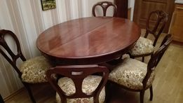 Stół Rozkładany Antyk + 5 krzeseł PILNE
