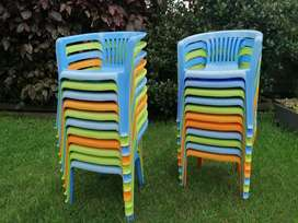 Plastic chairs for kids (set of 22)