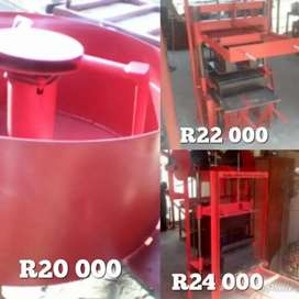 Brickmachines and Pan Mixer for sale