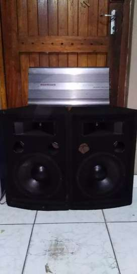 Amp + speakers