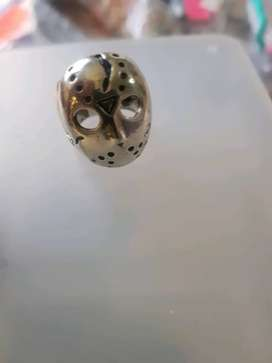 Friday the 13th jason mask silver ring
