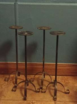 Large floor standing candle holders x 4