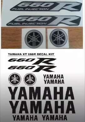 Decal sticker kit for a Yamaha XT 660R fuel injection